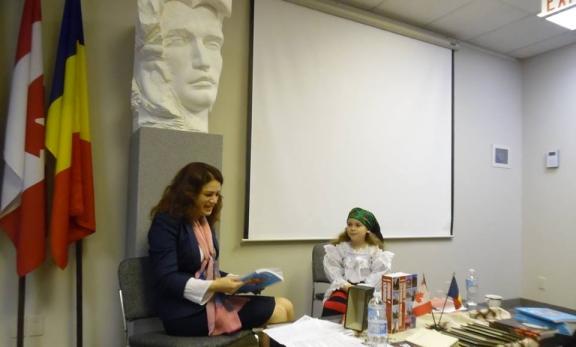 Crina o prezintă pe Sophia Leopold la Consulatul României din Toronto, 15 ian 2015