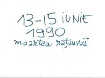 13–15 iunie 1990 prin ochii unui elev