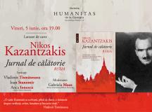 Despre călătoriile lui Nikos Kazantzakis în Rusia vineri, 5 iunie, ora 19.00 la Librăria Humanitas de la Cişmigiu