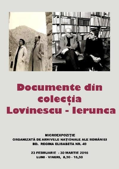 Expoziţie COLECŢIA Monica Lovinescu- Virgil Ierunca