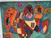 Sophia Leopold, pictoriţǎ de la 3 ani.