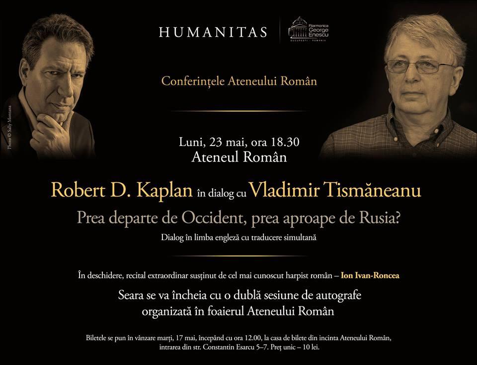 23-24 mai: Robert Kaplan în România