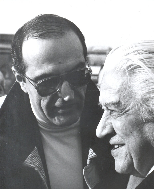 Sergiu Celibidache si Dan Grigore, febr.1990, foto Mihail Cr
