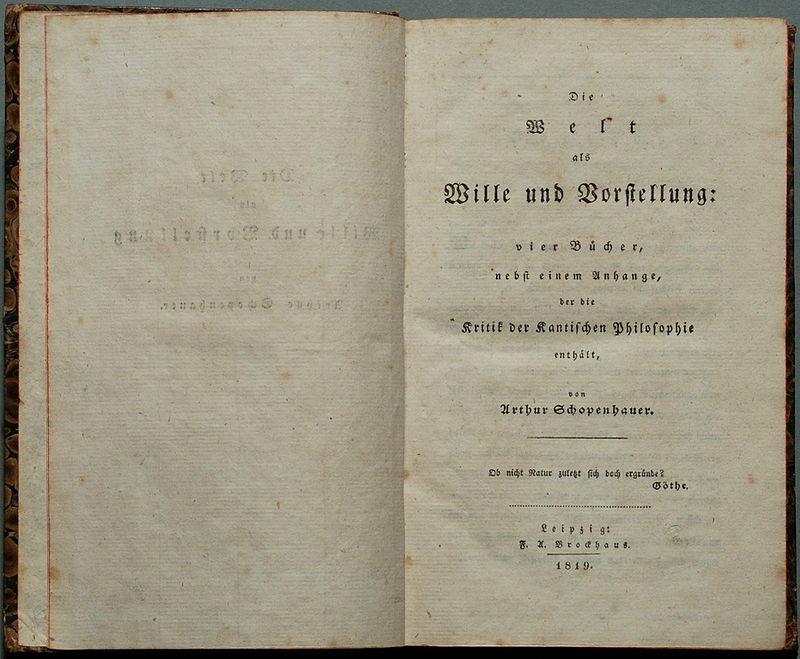 800px-Schopenhauer_Die_Welt_als_Wille_und_Vorstellung_1819
