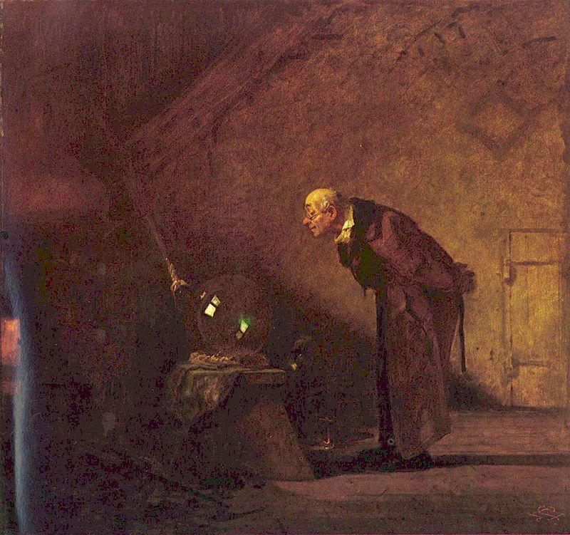 Alchimistul, Carl Spitzweg