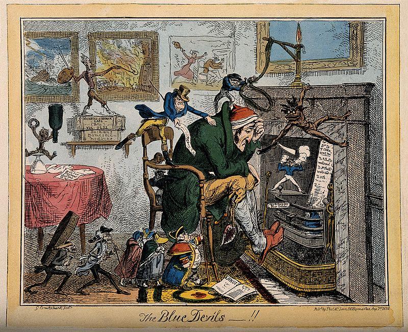 caricatura de George Cruikshank, 1835
