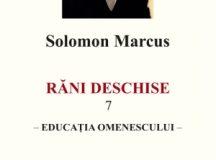 """Solomon Marcus: """"Singurătatea matematicianului"""""""