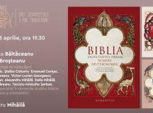 """Marți, 13 aprilie, ora 19.30 – live, online: prezentarea volumului """"Biblia după textul ebraic. Numerii. Deuteronomul"""""""