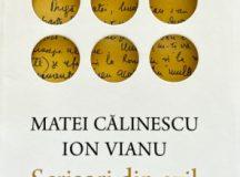 """Matei Călinescu, Ion Vianu – """"Scrisori din exil – corespondență inedită"""""""