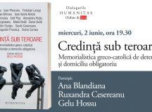"""Ana Blandiana, Ruxandra Cesereanu în dialog cu Gelu Hossu despre volumul """"Credință sub teroare"""" – eveniment Humanitas #Live #online"""